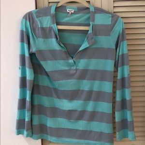 Splendid Long Sleeve Striped Shirt